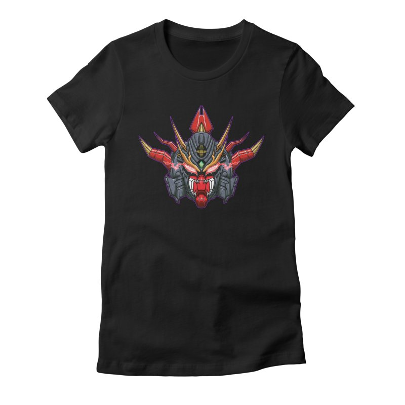 Liger Beast Mech Women's Fitted T-Shirt by inbrightestday's Artist Shop