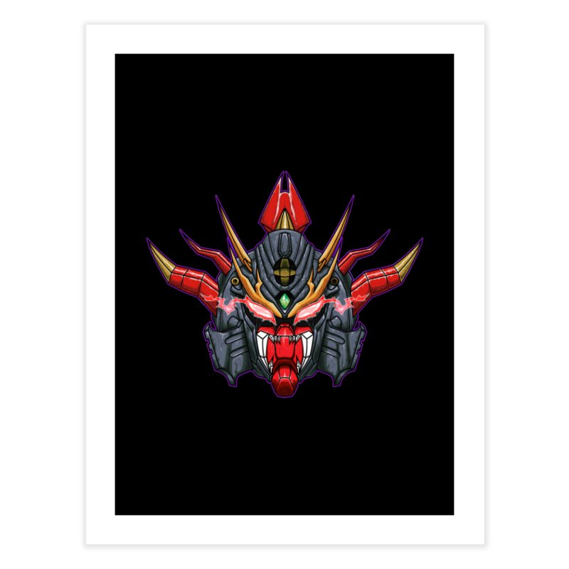 Liger Beast Mech Home Fine Art Print by inbrightestday's Artist Shop