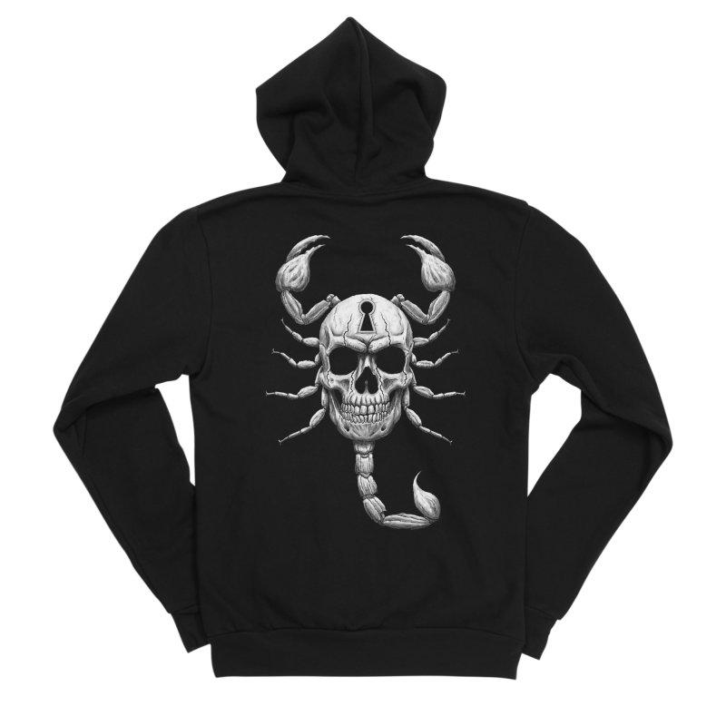 Death Lock Men's Sponge Fleece Zip-Up Hoody by inbrightestday's Artist Shop