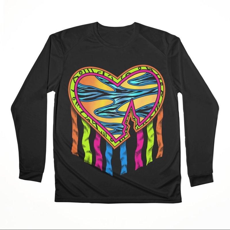 Rock Breaks Heart Women's Performance Unisex Longsleeve T-Shirt by inbrightestday's Artist Shop