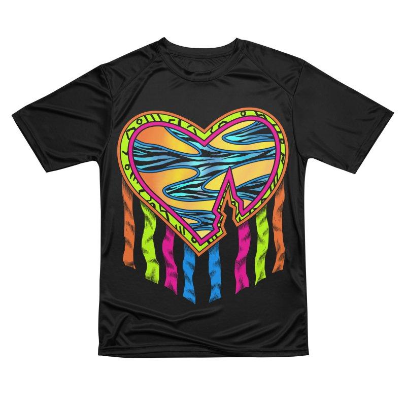 Rock Breaks Heart Women's Performance Unisex T-Shirt by inbrightestday's Artist Shop