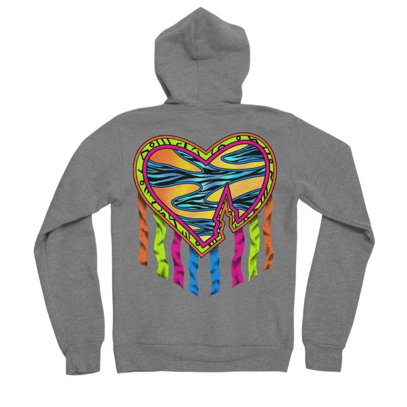 Rock Breaks Heart Women's Sponge Fleece Zip-Up Hoody by inbrightestday's Artist Shop