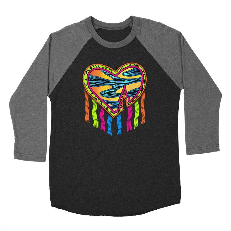Rock Breaks Heart Women's Baseball Triblend Longsleeve T-Shirt by inbrightestday's Artist Shop