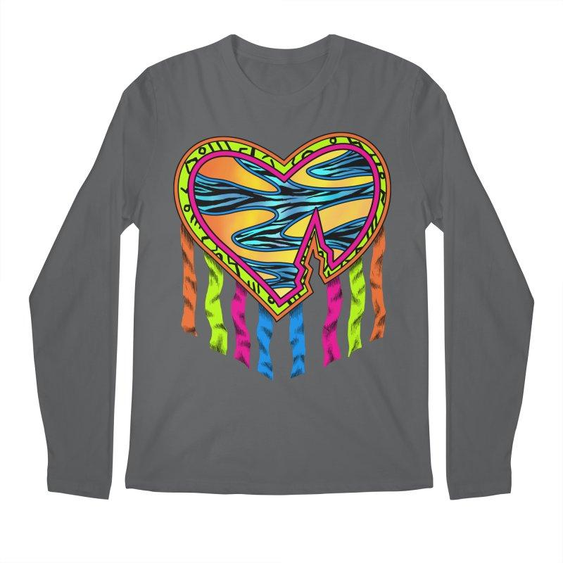 Rock Breaks Heart Men's Regular Longsleeve T-Shirt by inbrightestday's Artist Shop