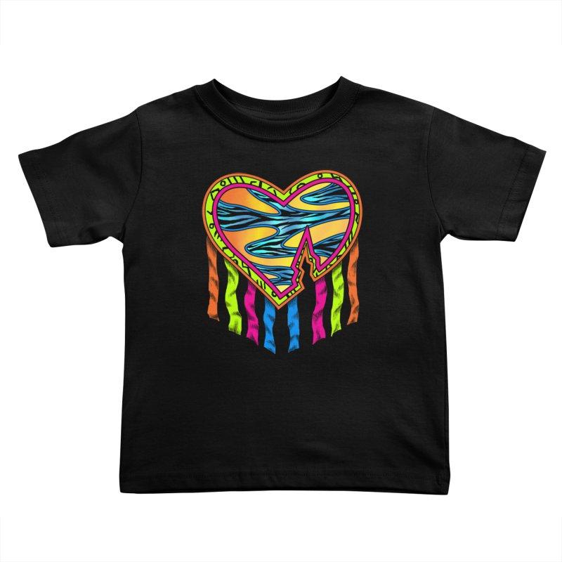 Rock Breaks Heart Kids Toddler T-Shirt by inbrightestday's Artist Shop