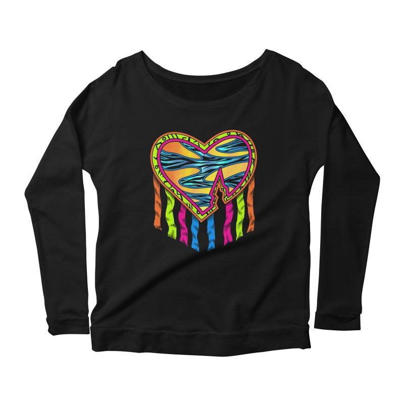 Rock Breaks Heart Women's Scoop Neck Longsleeve T-Shirt by inbrightestday's Artist Shop