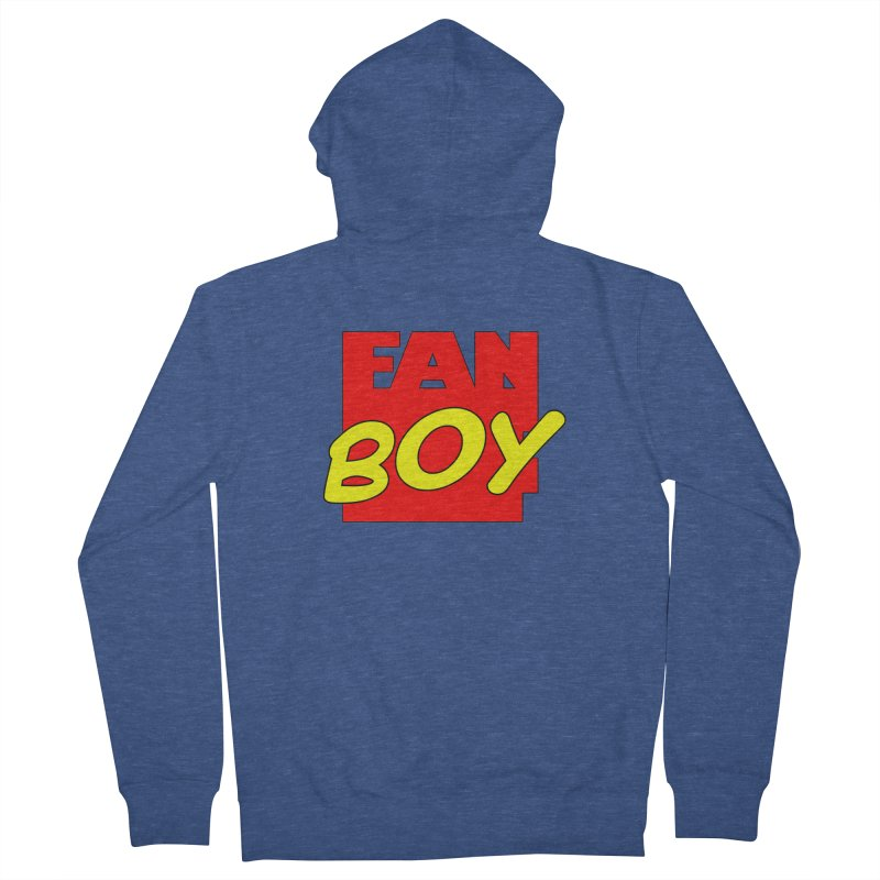 Fanboy Men's Zip-Up Hoody by inbrightestday's Artist Shop