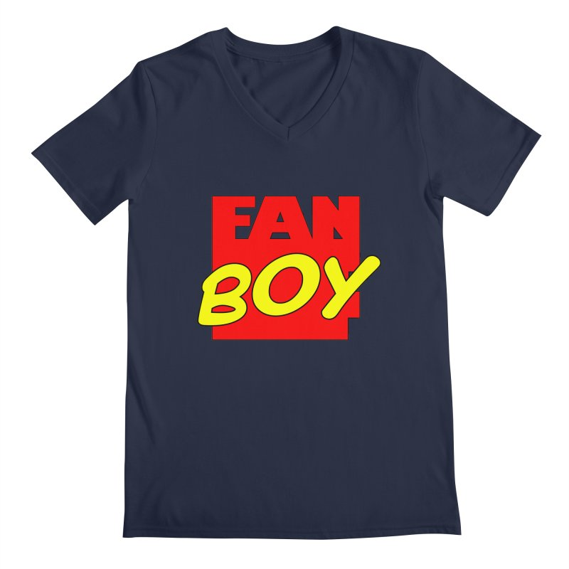 Fanboy Men's V-Neck by inbrightestday's Artist Shop