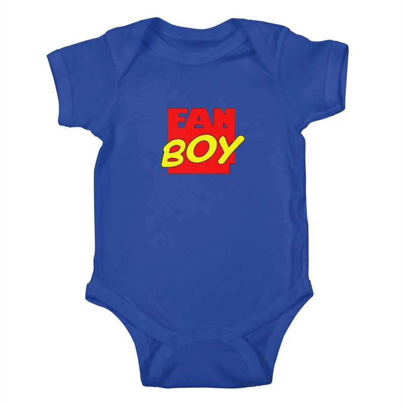 Fanboy Kids Baby Bodysuit by inbrightestday's Artist Shop