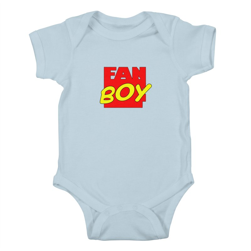 Fanboy Kids Baby Bodysuit by inbrightestday's Artist Shop
