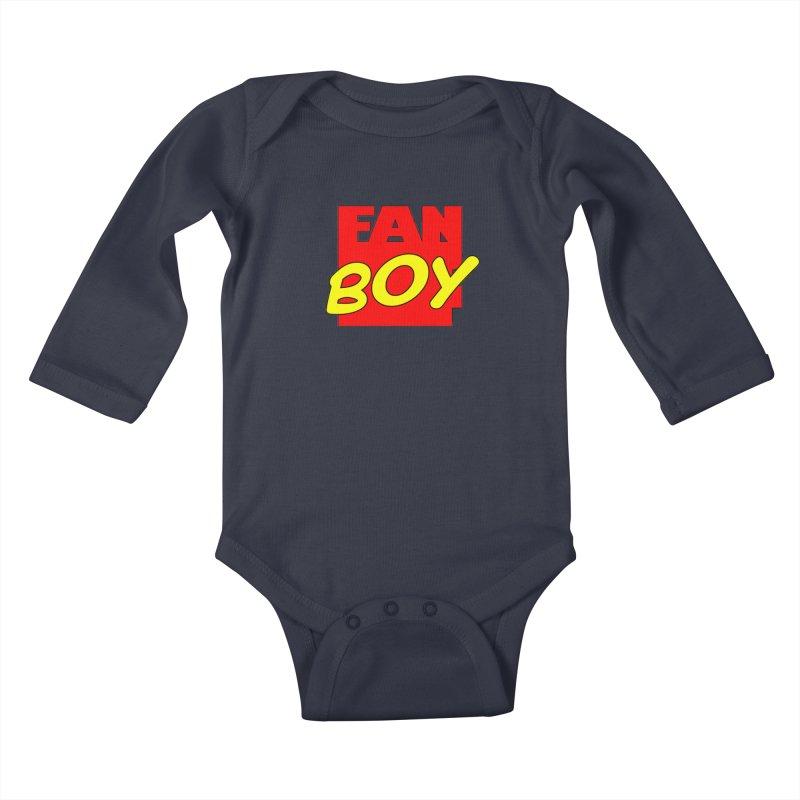 Fanboy Kids Baby Longsleeve Bodysuit by inbrightestday's Artist Shop