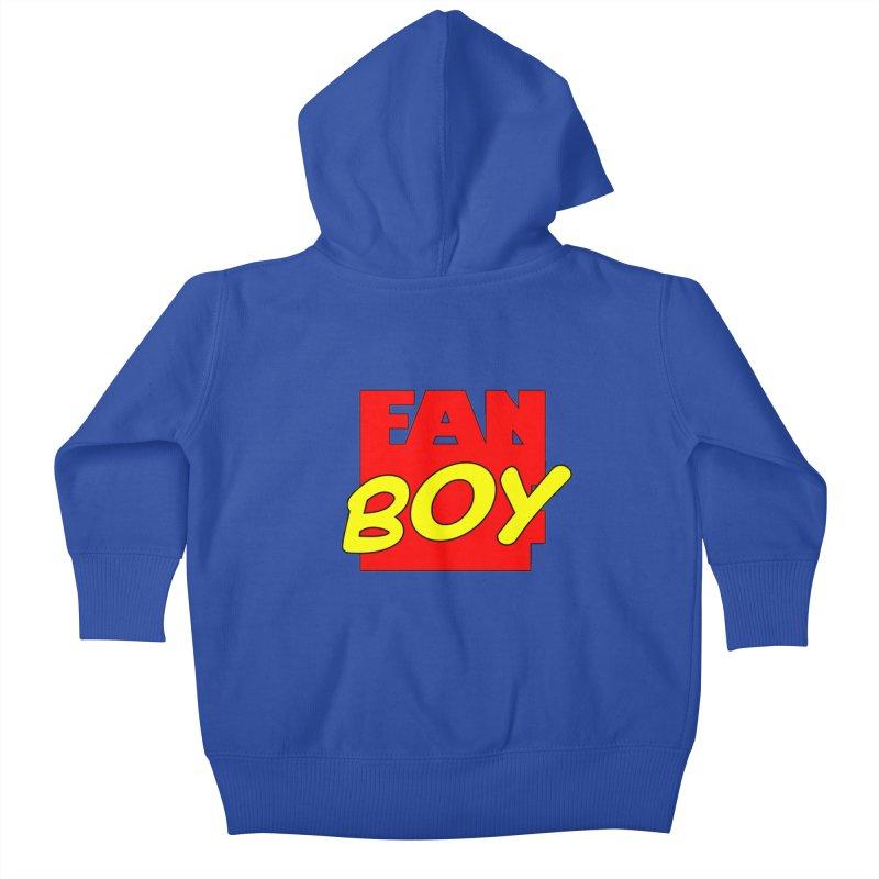 Fanboy Kids Baby Zip-Up Hoody by inbrightestday's Artist Shop