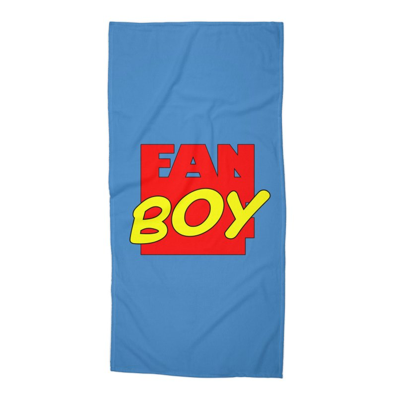 Fanboy Accessories Beach Towel by inbrightestday's Artist Shop