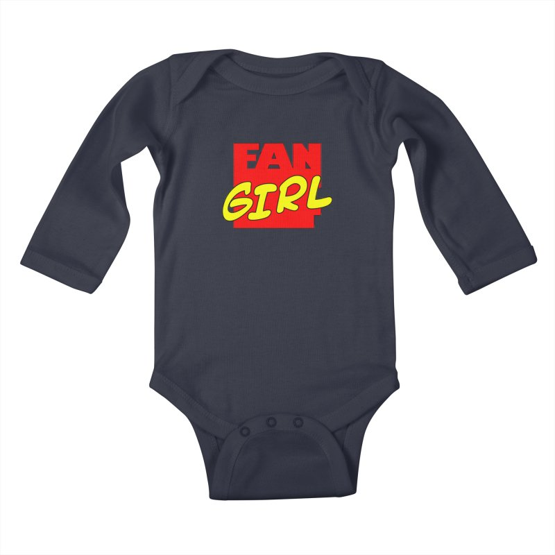 Fangirl Kids Baby Longsleeve Bodysuit by inbrightestday's Artist Shop