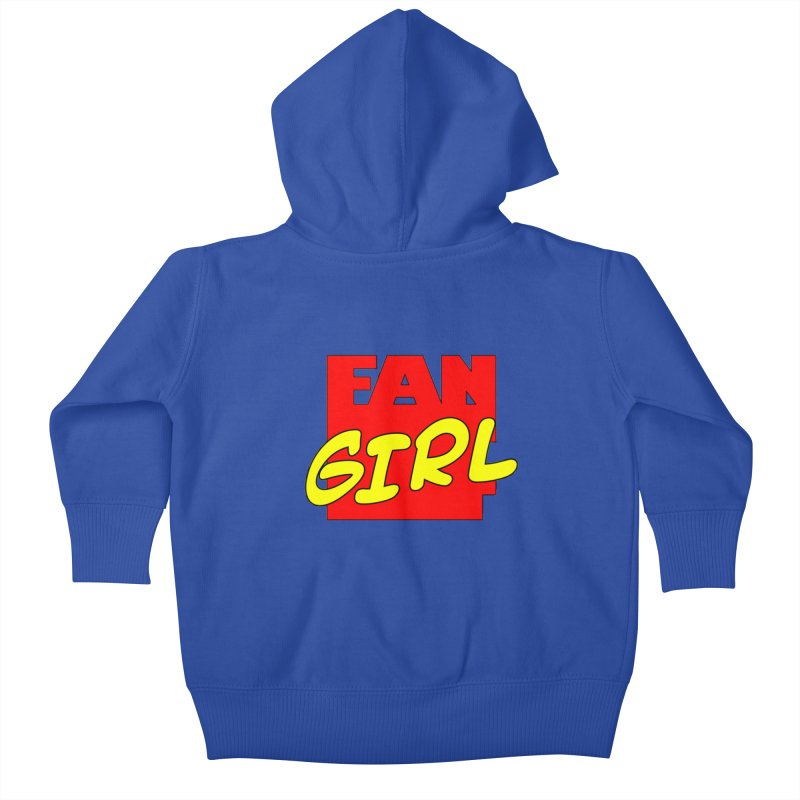 Fangirl Kids Baby Zip-Up Hoody by inbrightestday's Artist Shop