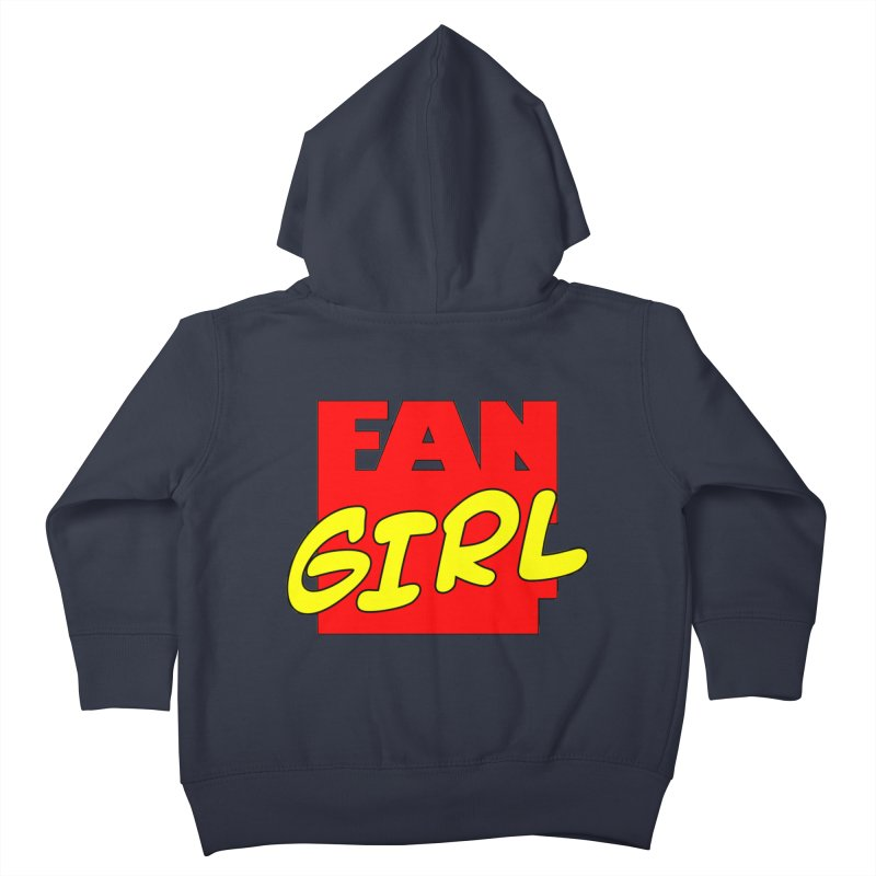 Fangirl Kids Toddler Zip-Up Hoody by inbrightestday's Artist Shop