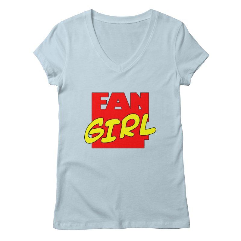 Fangirl Women's V-Neck by inbrightestday's Artist Shop