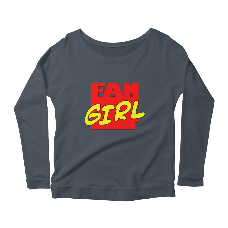 Fangirl Women's Longsleeve Scoopneck  by inbrightestday's Artist Shop