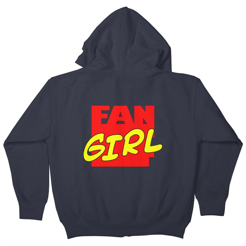 Fangirl Kids Zip-Up Hoody by inbrightestday's Artist Shop