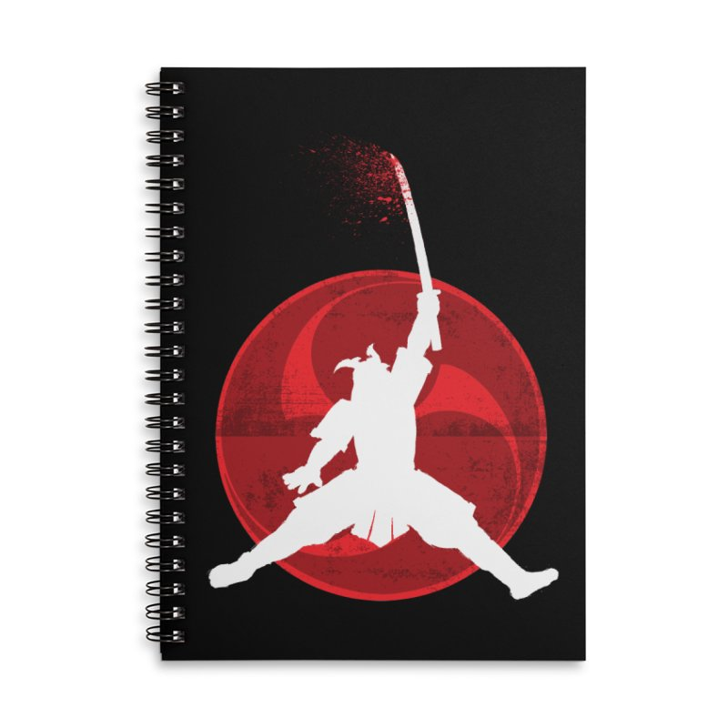 Slamurai 2 Accessories Lined Spiral Notebook by inbrightestday's Artist Shop