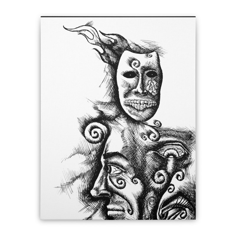 Amalgamation Home Stretched Canvas by inbrightestday's Artist Shop