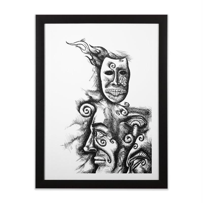 Amalgamation Home Framed Fine Art Print by inbrightestday's Artist Shop