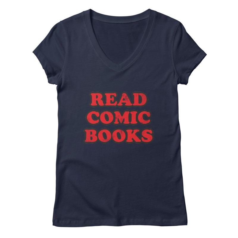 Classic Literature Women's V-Neck by inbrightestday's Artist Shop