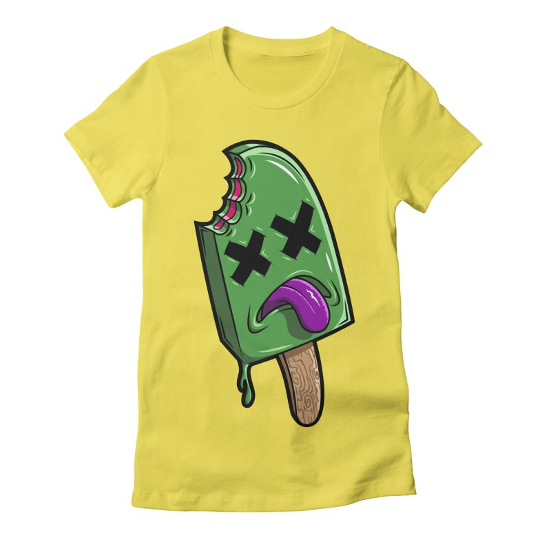 Deadsicle Women's Fitted T-Shirt by inbrightestday's Artist Shop