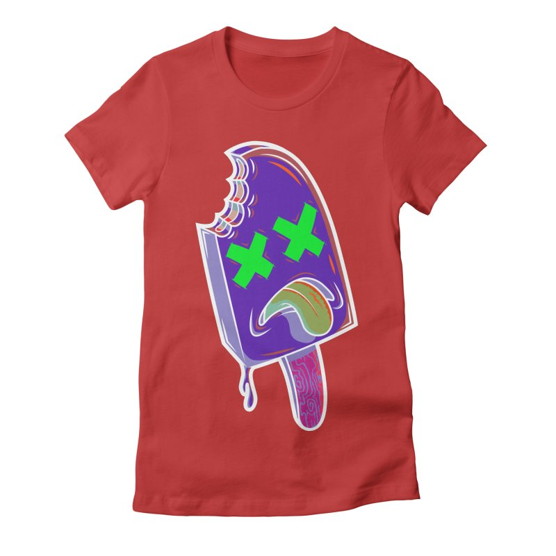 UnDeadsicle Women's Fitted T-Shirt by inbrightestday's Artist Shop