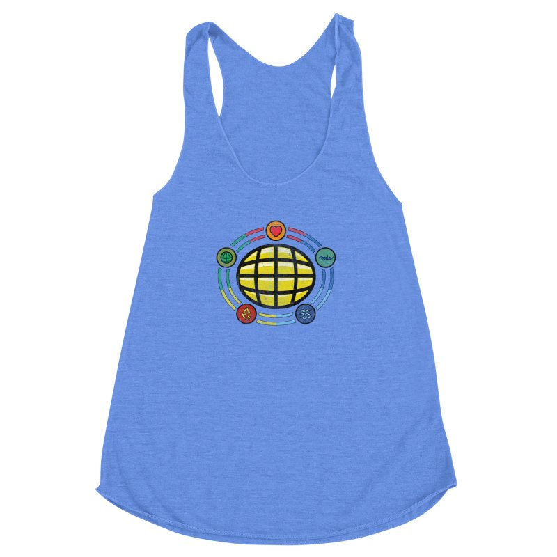 The Power is Yours!!! Women's Racerback Triblend Tank by inbrightestday's Artist Shop