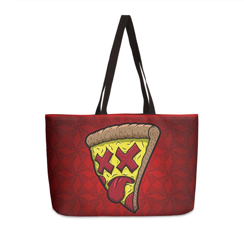 Dead Slice Accessories Weekender Bag Bag by inbrightestday's Artist Shop