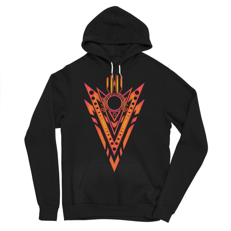 Blazing Fire Arrow Men's Sponge Fleece Pullover Hoody by inbrightestday's Artist Shop