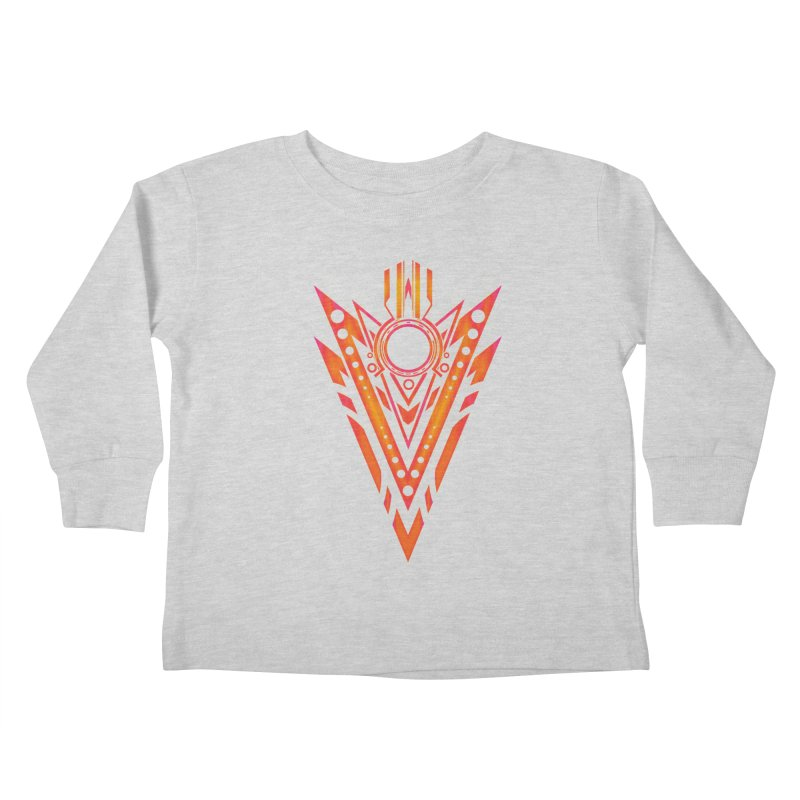 Blazing Fire Arrow Kids Toddler Longsleeve T-Shirt by inbrightestday's Artist Shop