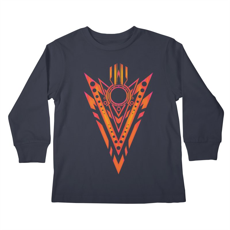 Blazing Fire Arrow Kids Longsleeve T-Shirt by inbrightestday's Artist Shop