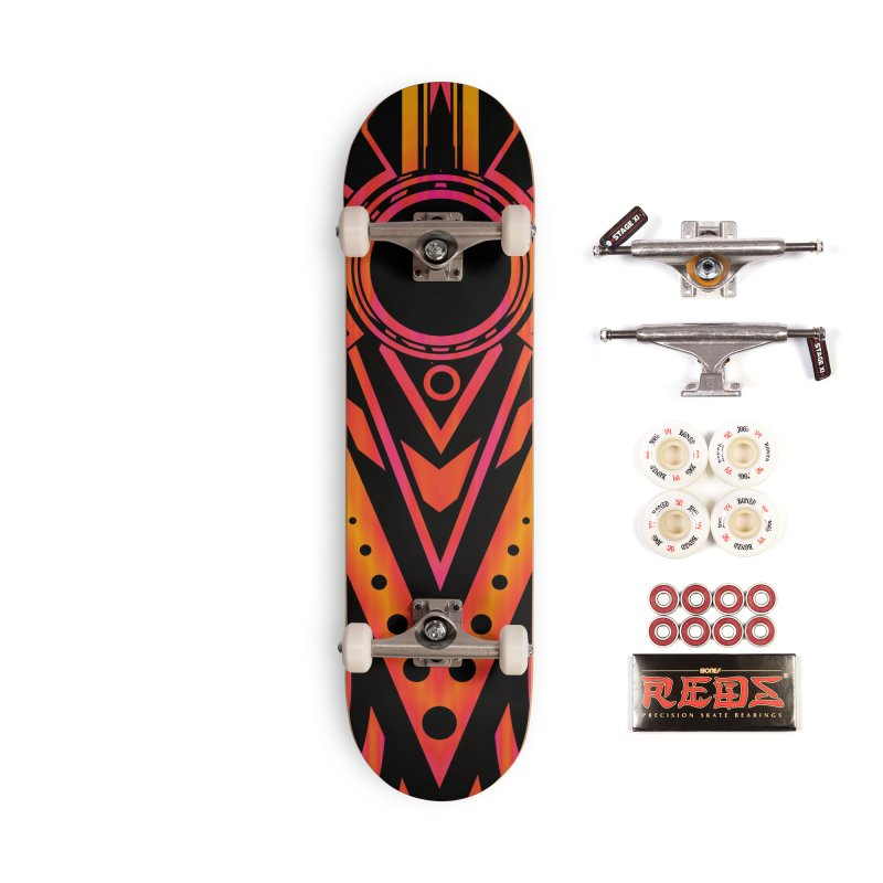 Blazing Fire Arrow Accessories Complete - Pro Skateboard by inbrightestday's Artist Shop