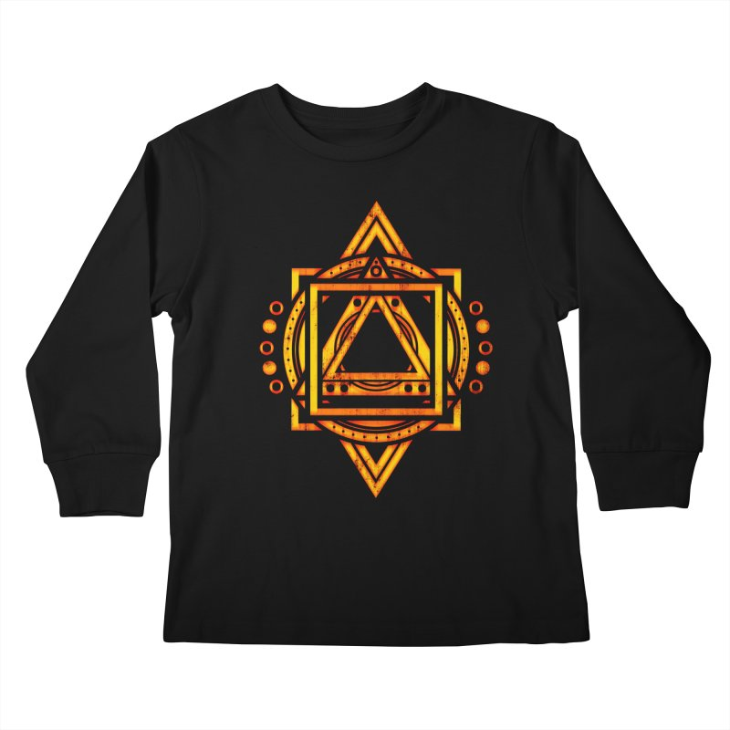 Metagalactic Lock (Recharged) Kids Longsleeve T-Shirt by inbrightestday's Artist Shop