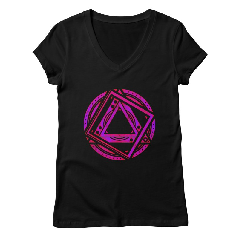 Interstellar Bolt Women's V-Neck by inbrightestday's Artist Shop