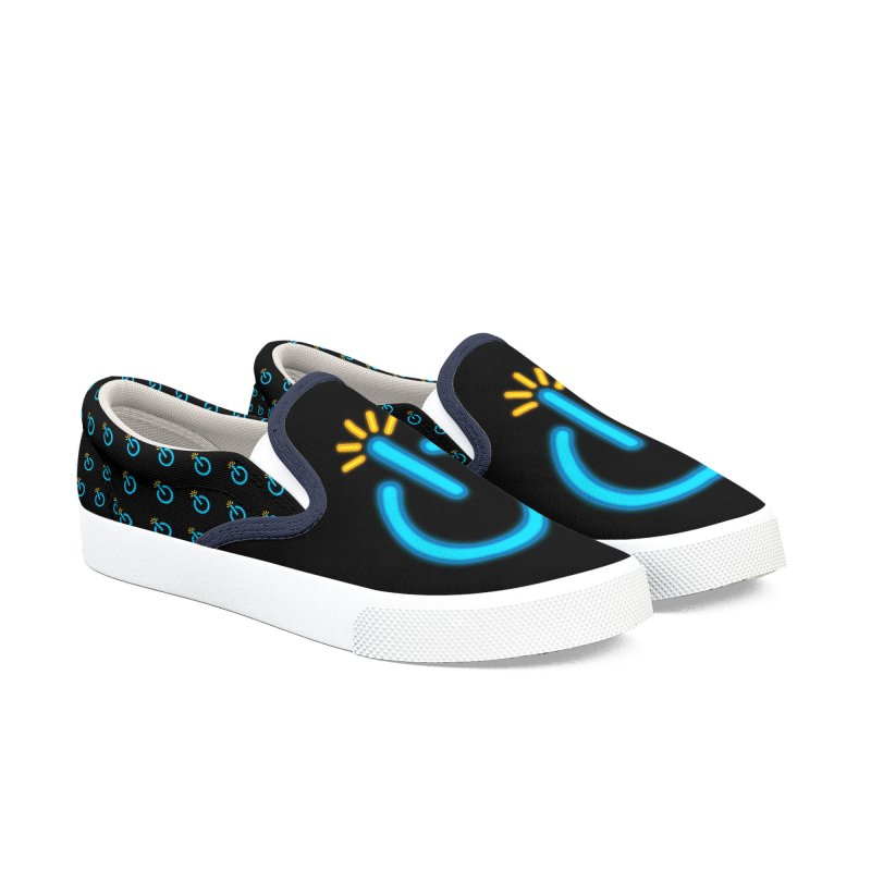 Powerbomb Men's Slip-On Shoes by inbrightestday's Artist Shop