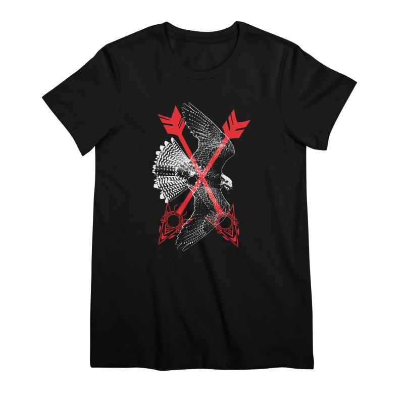 Falcon Arrows Women's Premium T-Shirt by inbrightestday's Artist Shop
