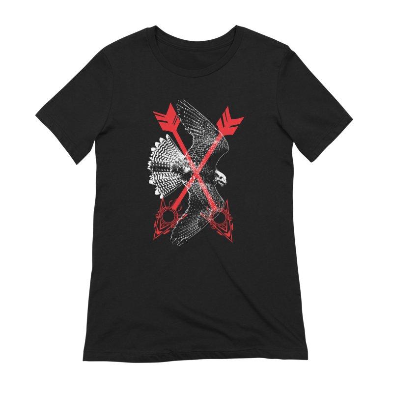 Falcon Arrows Women's Extra Soft T-Shirt by inbrightestday's Artist Shop