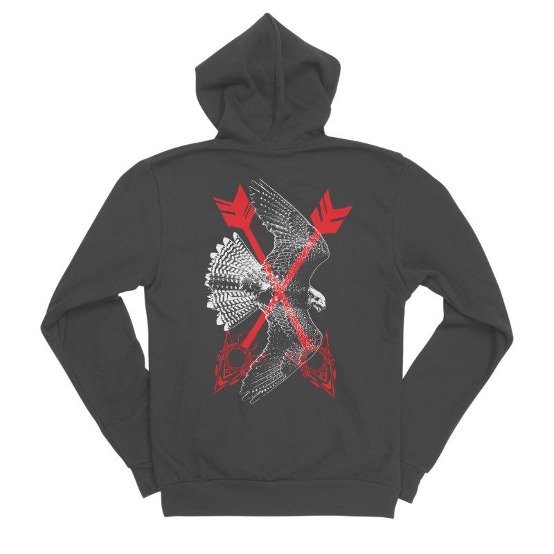 Falcon Arrows Men's Sponge Fleece Zip-Up Hoody by inbrightestday's Artist Shop