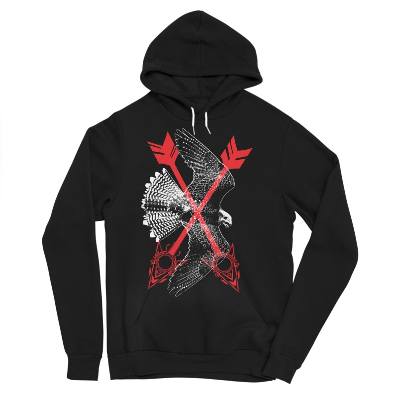 Falcon Arrows Men's Sponge Fleece Pullover Hoody by inbrightestday's Artist Shop