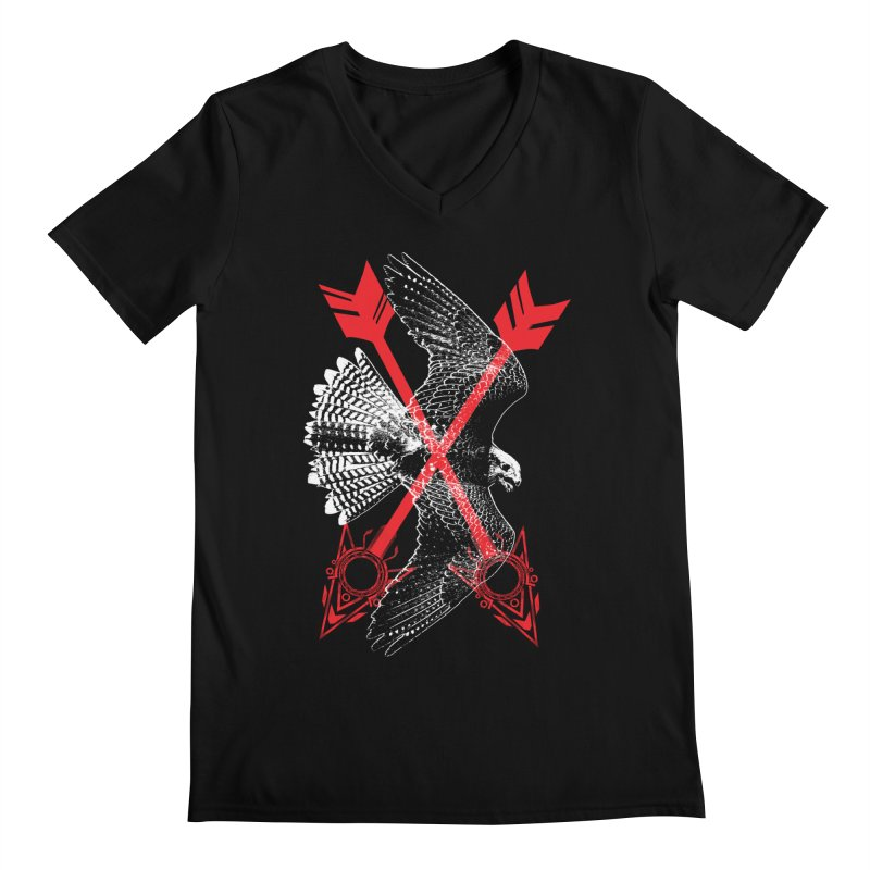 Falcon Arrows Men's V-Neck by inbrightestday's Artist Shop