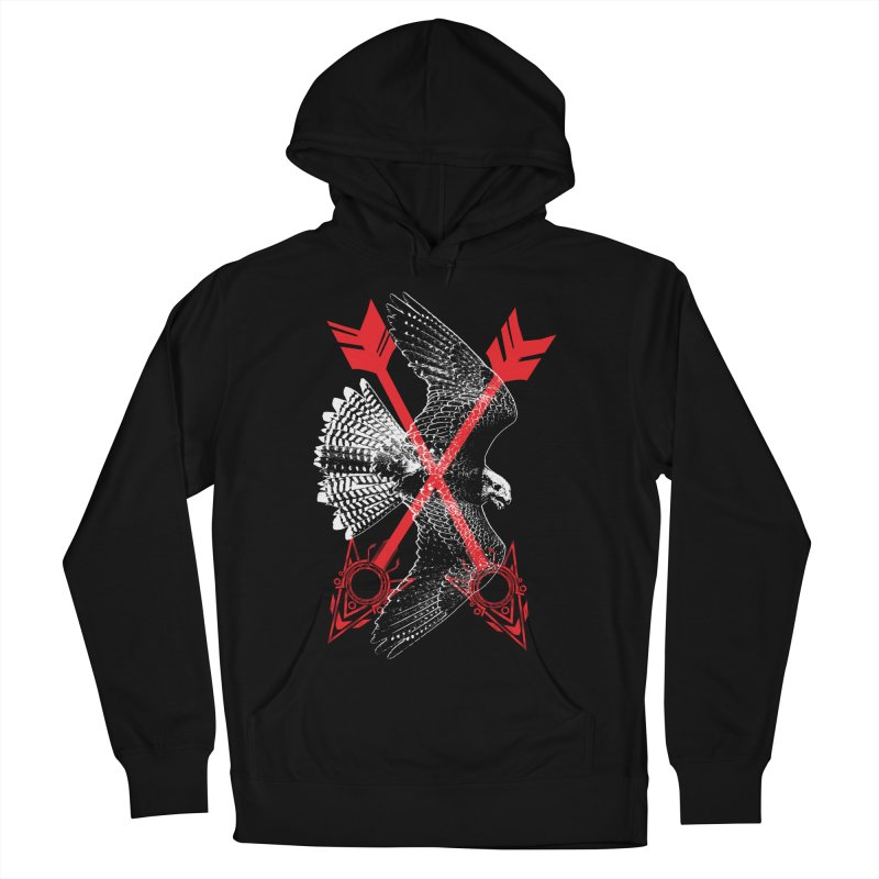 Falcon Arrows Women's French Terry Pullover Hoody by inbrightestday's Artist Shop