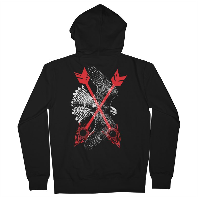 Falcon Arrows Men's French Terry Zip-Up Hoody by inbrightestday's Artist Shop