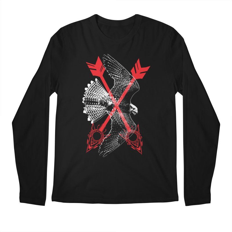 Falcon Arrows Men's Regular Longsleeve T-Shirt by inbrightestday's Artist Shop