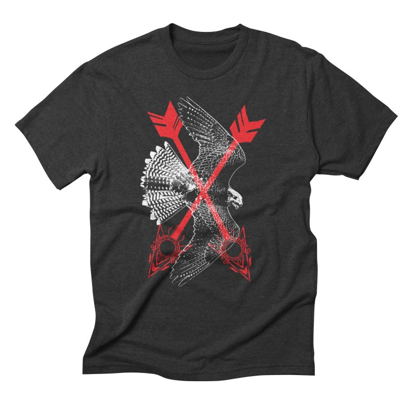 Falcon Arrows Men's Triblend T-Shirt by inbrightestday's Artist Shop