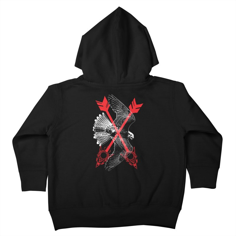 Falcon Arrows Kids Toddler Zip-Up Hoody by inbrightestday's Artist Shop