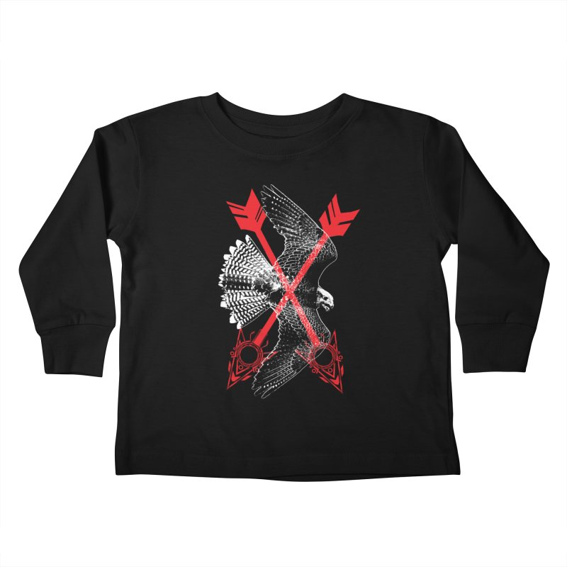 Falcon Arrows Kids Toddler Longsleeve T-Shirt by inbrightestday's Artist Shop