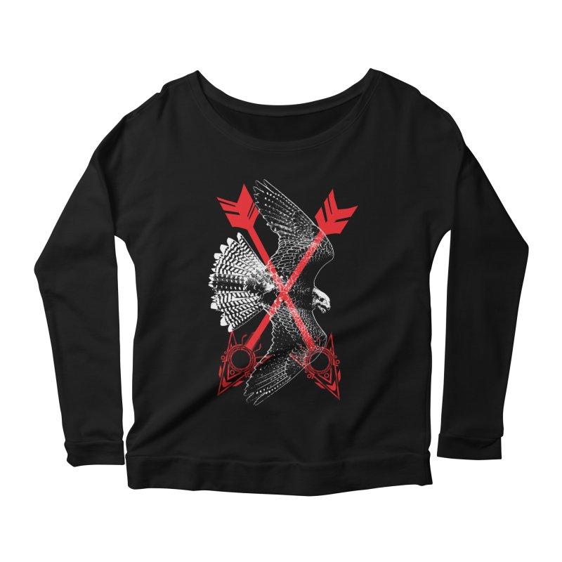 Falcon Arrows Women's Scoop Neck Longsleeve T-Shirt by inbrightestday's Artist Shop